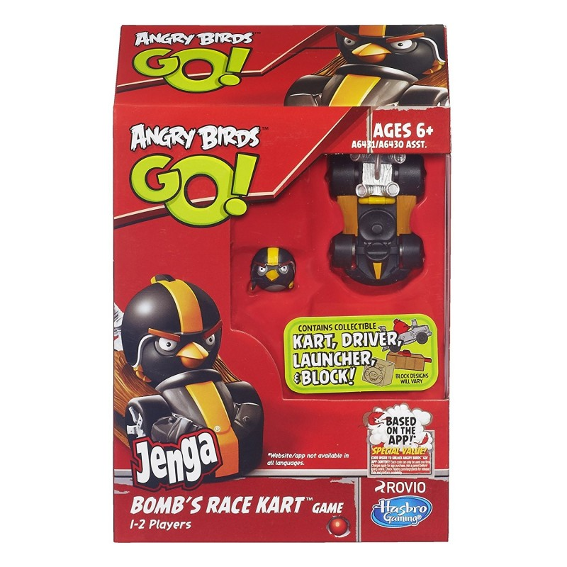 Angry Birds Go Toys : Angry birds go jenga bomb s race kart game new toy circle