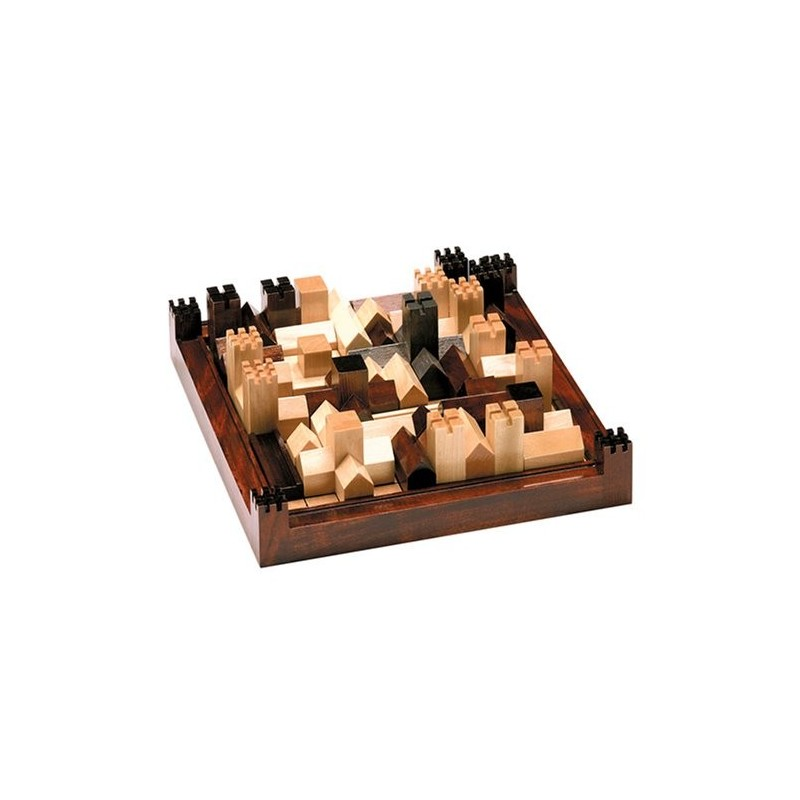 Cathedral Wood Strategy Tabletop Board Game Classic - Toy Circle