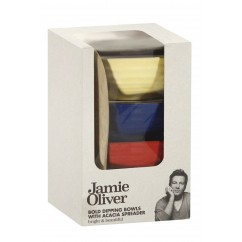 Jamie Oliver Bold Dipping Bowls With Acacia Spreader