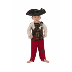 Kids Pirate Matey Costume - SIZE TODDLER ( 80 -100 cm)