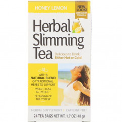 21st Century Herbal Slimming Tea Honey Lemon Caffeine Free 24 Tea Bags 1.7 oz (48 g)