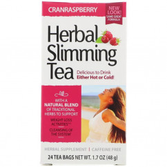 21st Century Herbal Slimming Tea Cranraspberry Caffeine Free 24 Tea Bags 1.6 oz (45 g)