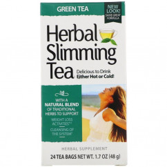 21st Century Herbal Slimming Tea Green Tea Caffeine Free 24 Tea Bags 1.6 oz (45 g)