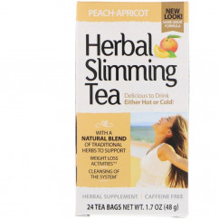 21st Century Herbal Slimming Tea Peach-Apricot Caffeine Free 24 Tea Bags 1.6 oz (45 g)