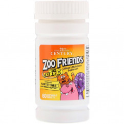 21st Century Zoo Friends with Extra C 60 Chewable Tablets