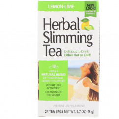 21st Century Herbal Slimming Tea Lemon-Lime Caffeine Free 24 Tea Bags 1.7 oz (48 g)