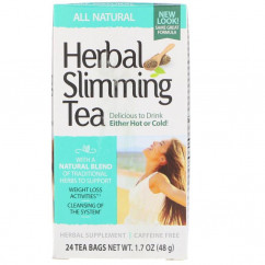 21st Century Herbal Slimming Tea All Natural Caffeine Free 24 Tea Bags 1.7 oz (48 g)