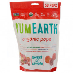 YumEarth Organic Pops Assorted Flavors 50 Pops 12.3 oz (348.7 g)