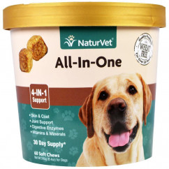 NaturVet All-In-One 4-In-1 Support 60 Soft Chews 8.4 oz. (240 g)