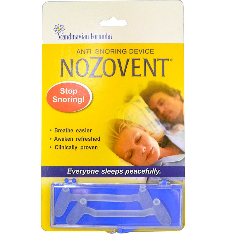 Scandinavian Formulas NoZovent Anti-Snoring Device 2 Medium Size Breathing Devices
