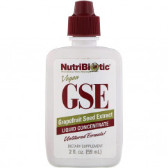 NutriBiotic Vegan GSE Grapefruit Seed Extract Liquid Concentrate 2 fl oz (59 ml)