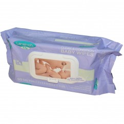 Lansinoh, Clean & Condition Baby Wipes, 80 Wipes, 7.9 x 6.9 in (20 x 17.5 cm)