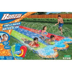Spring & Summer Toys Banzai 16ft-Long Triple Racer Water Slide