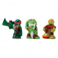 Teenage Mutant Ninja Turtles Half Shell Bath Tub Squirt Figure 3 Pack