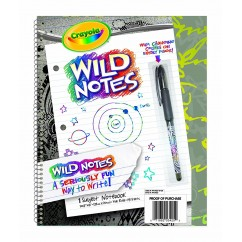 Crayola Wild Notes Subject Notebook