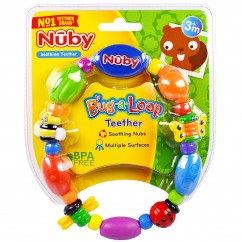 Nuby, Soothing Teether, Bug-a-Loop, 3 + Months, 1 Soothing Teether