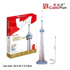"Cubic Fun - 3D Puzzle: ""Canda's National Tower"" (48pc)"