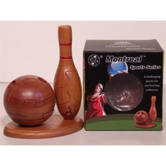 Montreal 3D Puzzles Sports Series - Bowling Ball and Pin wooden