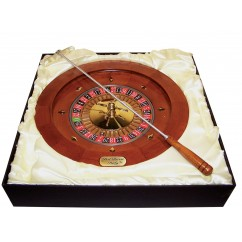 """Dal Rossi Italy - Roulette & Rake 16"""" Wood with metal ball"""