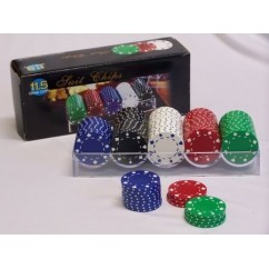Casino Poker Chips & Accessories - Poker Chip Suit Style 11.5gm 100 Pieces