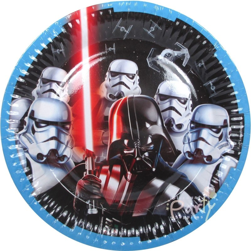 Star Wars Party Birthday Large Dinner Paper Plates 8