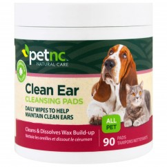 21st Century, Pet Natural Care, Clean Ear Cleansing Pads, 90 Pads