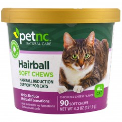 21st Century, Pet Natural Care, Hairball Soft Chews, All Cat, Chicken & Cheese Flavor, 90 Soft Chews ***FLASH SALE ***