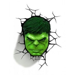 3DLightFX Marvel Avengers Hulk Face 3D Deco Light