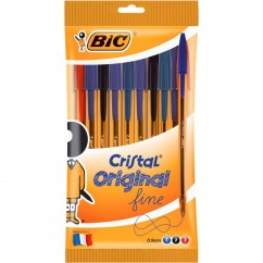 BIC Cristal Extra Fine Pens 10 Pack