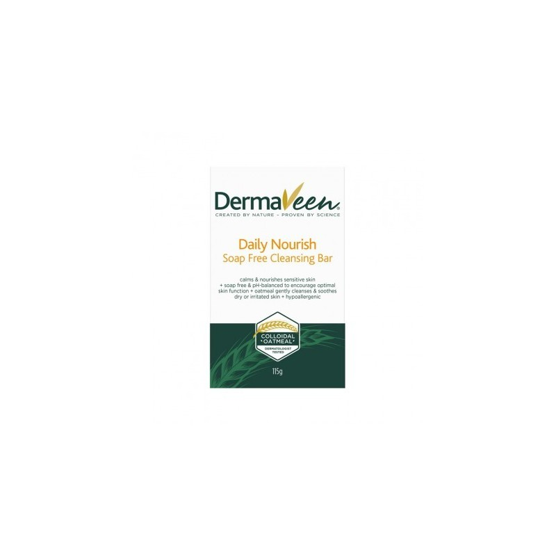 Dermaveen Daily Nourish Dry Skin Soap Free Cleansing Bar 115g