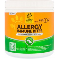 Zesty Paws, Allergy Immune Bites, Digestive & Immune Health, for Dogs, All Ages, Lamb Flavor, 90 Soft Chews ***HOT PRICE***