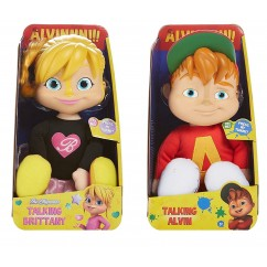 Set of 2 Dolls Alvin and the Chipmunks Talking Brittany and Alvin
