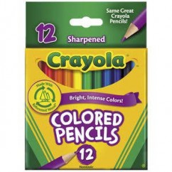 Crayola Short Barrel Colored Woodcase Pencils Cyo684112