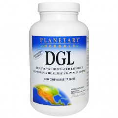 Planetary Herbals, DGL, Deglycyrrhizinated Licorice, 200 Chewable Tablets